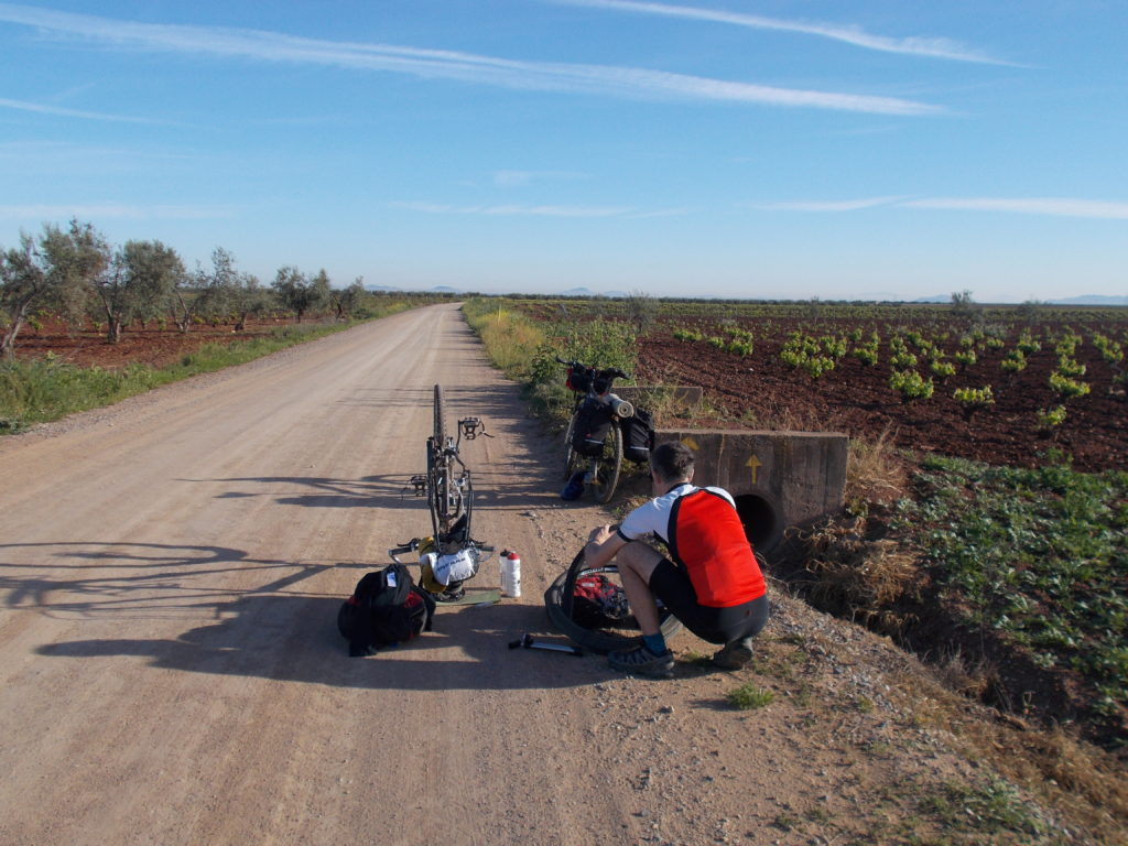 Cycling across Spain Via de la Plata and Camino de Santiago